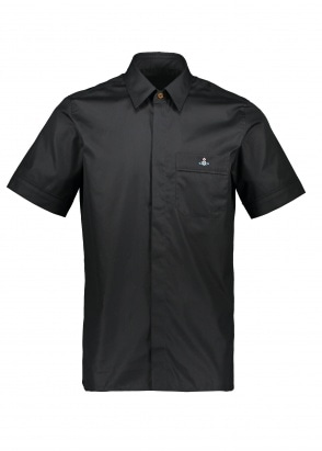 Vivienne Westwood Mens Hidden Button Shirt - Black
