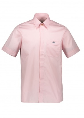 Vivienne Westwood Mens Hidden Button Shirt - Pink