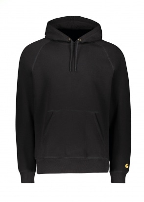Carhartt WIP Hooded Chase Sweat - Black / Gold