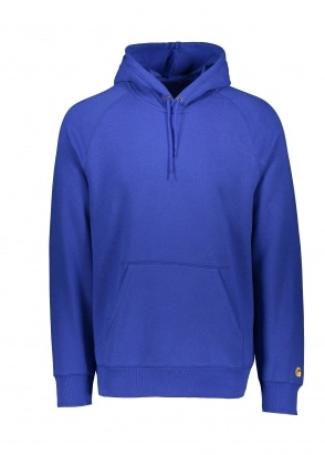Carhartt WIP Hooded Chase Sweat - Thunder Blue