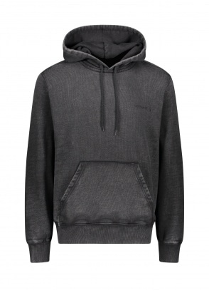 Carhartt WIP Hooded Mosby Script Sweat - Black