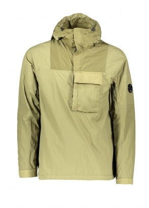 C.P. Company Hooded Panel Overshirt - Olive