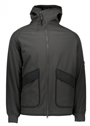 C.P. Company Hooded Zip Jacket - Black Coffee