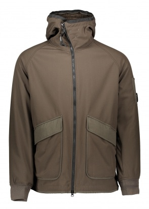 C.P. Company Hooded Zip Jacket - Cloudburst