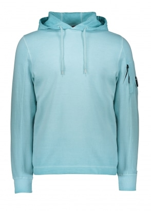 C.P. Company Hooded Zip Sweat - Blue Radiance