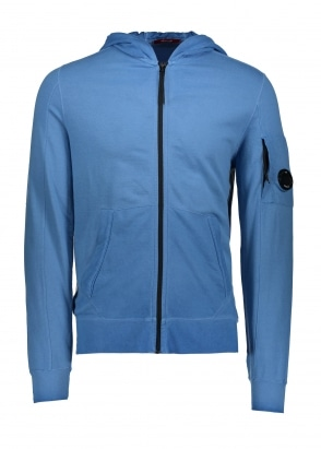 C.P. Company Hooded Zip Sweat Dazzling Blue