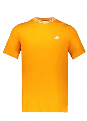 Nike Apparel JDI Top SS Knit - Orange Peel / White