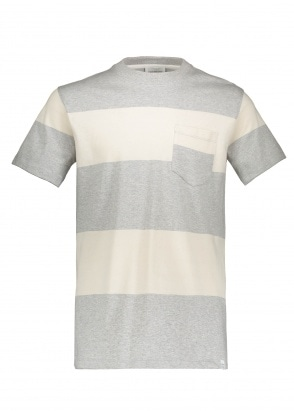 Norse Projects Johannes Block Stripe - Light Grey