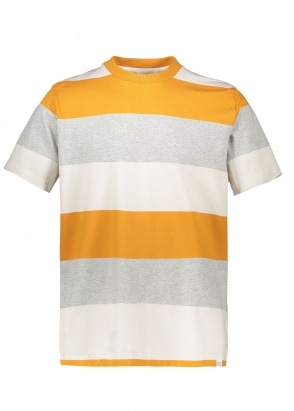 Norse Projects Johannes Border Stripe Cadmium