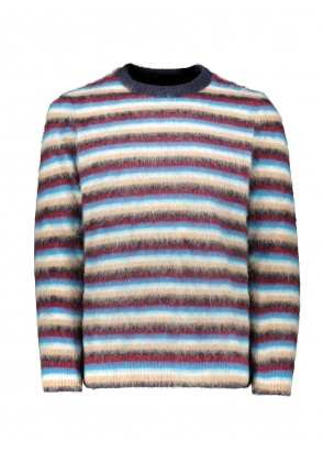 Wood Wood John Stripe Jumper - Navy Stripe