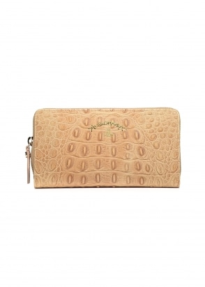 Vivienne Westwood Accessories Kelly Zip Round Wallet - Beige