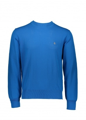 Vivienne Westwood Mens Knit Crew - Bright Blue