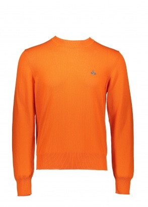 Vivienne Westwood Mens Knit Crew - Orange