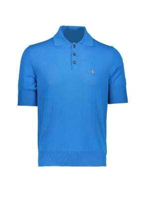 Vivienne Westwood Mens Knit Polo - Blue