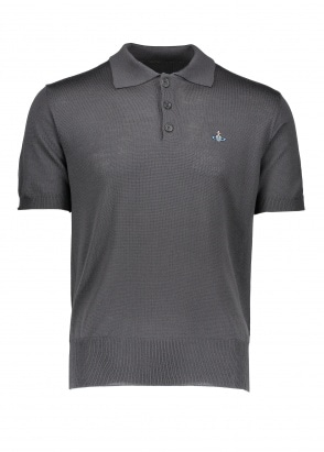 Vivienne Westwood Mens Knit Polo - Grey