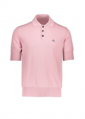 Vivienne Westwood Mens Knit Polo - Pink