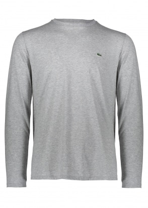 Lacoste L/S Logo Tee - Silver Chine
