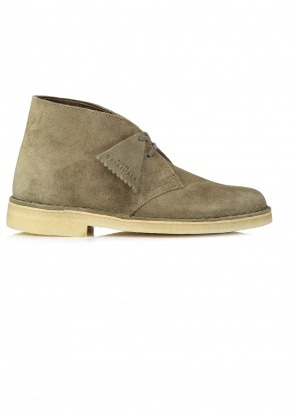 Clarks Originals Ladies Desert Boot Suede - Olive