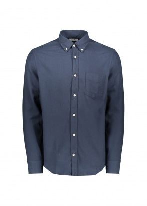 NN07 Levon BD Shirt - Navy Blue