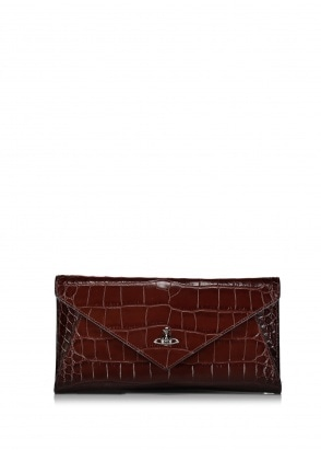 Vivienne Westwood Accessories Lisa Envelope Clutch - Brown