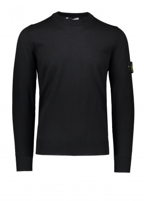 Stone Island Logo Patch Jumper - Black