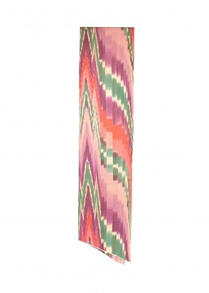 Engineered Garments Long Scarf - Purple / Green Ikat
