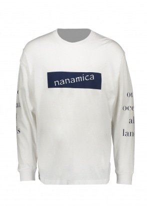 Nanamica LS Graphic Tee - White