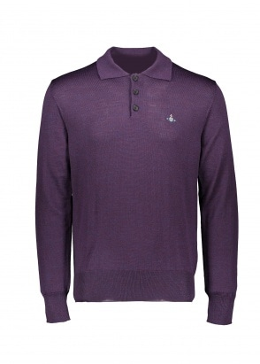 Vivienne Westwood Mens LS Knit Polo 384M - Purple