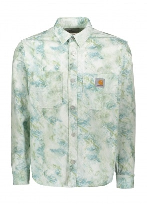 Carhartt WIP LS Marble Shirt - Wave Stone Washed