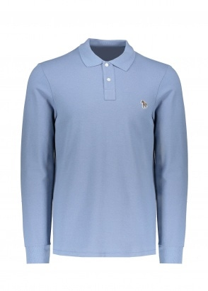 Paul Smith LS Polo Shirt - Light Blue