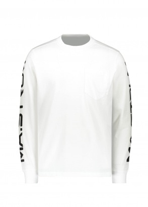 MA.STRUM LS Print Tee - Optical White