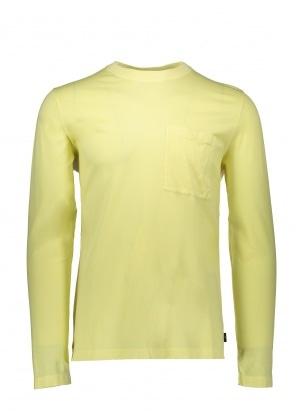 Paul Smith LS T-Shirt Pocket - Lemon