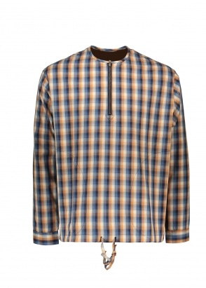 Monitaly LS Zip Neck Pullover - Plaid