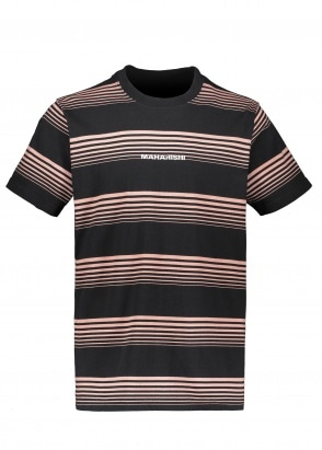 Maharishi Wavelength Stripe Tee - Pink