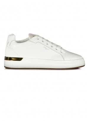 Mallet Grafter Trainers - White With Gum Sole