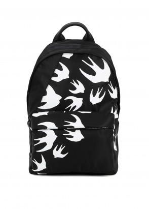 McQ Swallow Classic Swallow Backpack - Black