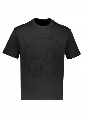 McQ by Alexander McQueen Monster Cut & Sew Tee - Darkest Black