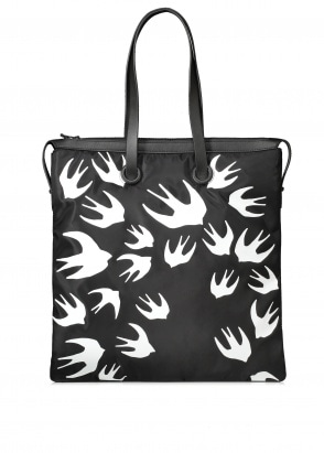 McQ Swallow Swallow Magazine Tote - Black