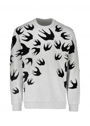 McQ Swallow Swallow Pullover - Mercury