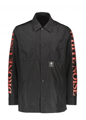McQ Swallow White Noise Overshirt - Darkest Black