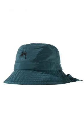 Stussy Metallic Nylon Bungee Bucket - Blue