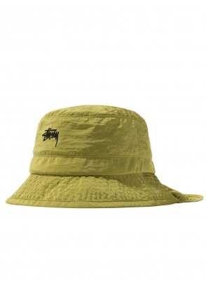 Stussy Metallic Nylon Bungee Bucket - Green