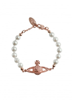 Vivienne Westwood Accessories Mini Bas Relief Bracelet - Pink Gold