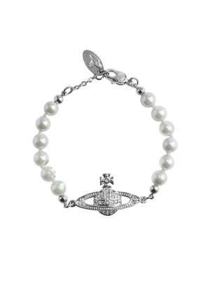 Vivienne Westwood Accessories Mini Bas Relief Bracelet - Rhodium
