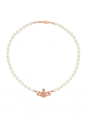 Vivienne Westwood Accessories Mini Bas Relief Choker - Pink Gold
