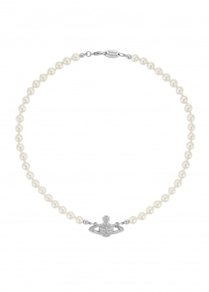 Vivienne Westwood Accessories Mini Bas Relief Choker - Rhodium