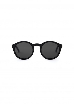 Monokel Eyewear Barstow Sunglasses - Black With Solid Grey Lenses
