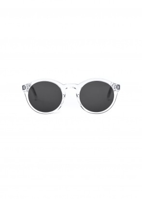 Monokel Eyewear Barstow Sunglasses - Crystal With Solid Grey Lenses
