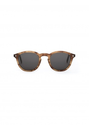 Monokel Eyewear Nelson Sunglasses - Amber With Solid Grey Lenses