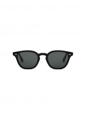 Monokel Eyewear River Sunglasses - Black With Solid Green Lenses